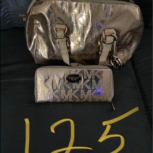 Michael Kors Purse with matching wallets